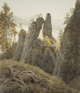 Friedrich-Caspar-David-ZZZ-The-Rock-Gates-in-Neurathen