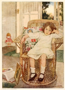 girl-sitting-upset-in-a-chair-illustration-by-jessie-willcox-smith