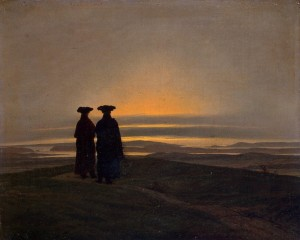 Sunset-by-Caspar-David-Friedrich